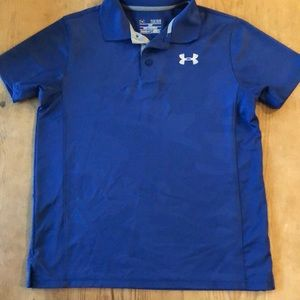 Under Armour Blue Digital Camo performance polo